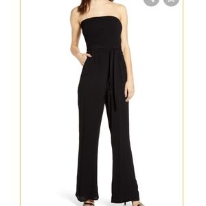 New Socialite black strapless jumpsuit medium m